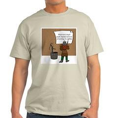 'Warriors Must Wash Hands' Ash Grey T-Shirt