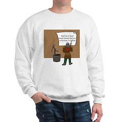 'Warriors Must Wash Hands' Sweatshirt