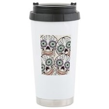 Day of the Dead Flip Fl Travel Coffee Mug