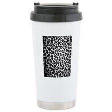 Black White Lep Travel Coffee Mug