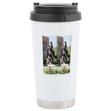 new horse logo -- statu Travel Mug