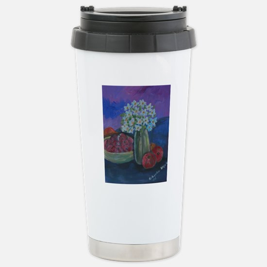 Fruits and Flowers Stainless Steel Travel Mug