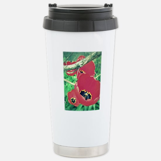 Tulips Painting Stainless Steel Travel Mug