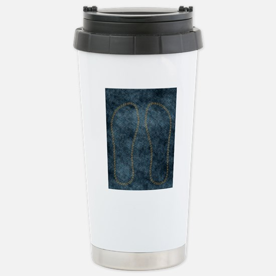 Jeans_doubleStitched Stainless Steel Travel Mug