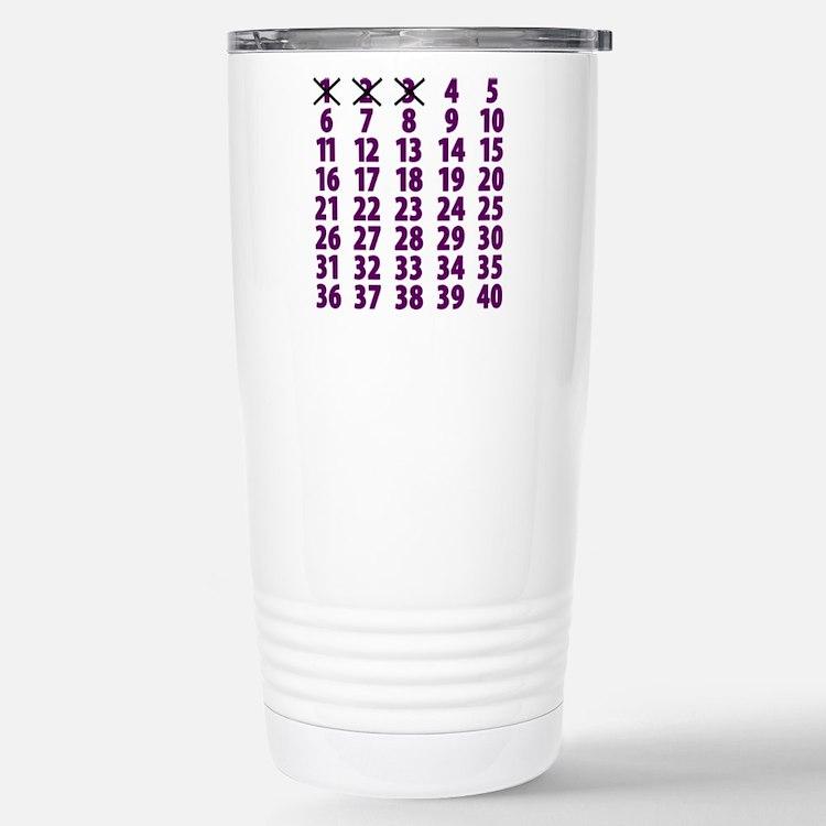 Countdownpurplecross Stainless Steel Travel Mug