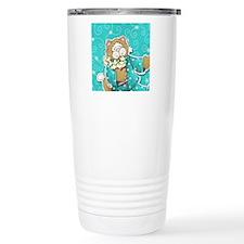 cat_turquoise Travel Mug