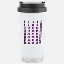 CountdownPurple Stainless Steel Travel Mug