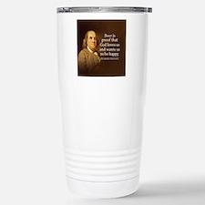Ben Franklin quote on b Travel Mug