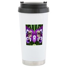 flip flops pug Travel Mug