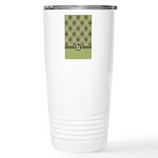 ipad_argyle_monogram_gr Travel Coffee Mug