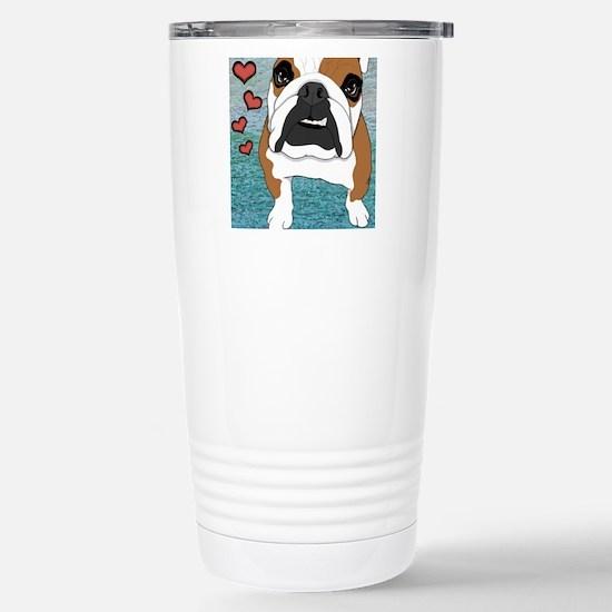 English Bulldog Stainless Steel Travel Mug