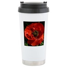 Vibrant Red Poppy Travel Mug