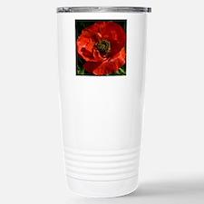 Vibrant Red Poppy Travel Mug