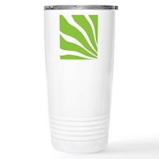 10x10_green_lines Travel Mug