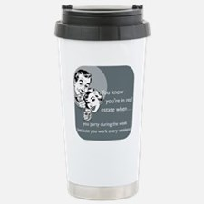 Party Like an Agent Gla Stainless Steel Travel Mug