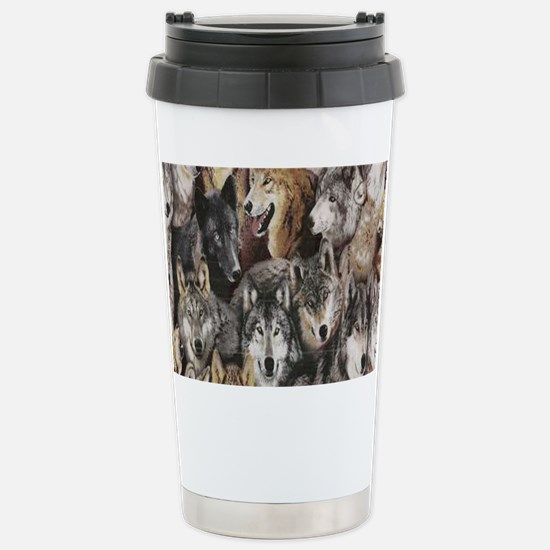 wolves Stainless Steel Travel Mug