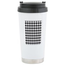 Plaid1_BW1 Travel Mug