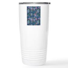 LayerFlowers_Blue Travel Mug