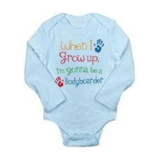 Bodyboarder Grow Up Long Sleeve Infant Bodysuit