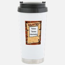 Wanted Poster Stainless Steel Travel Mug