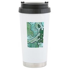 Mint Green Camo Travel Mug