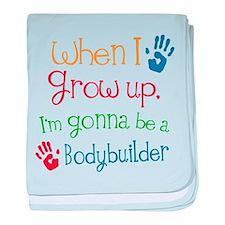Bodybuilder Grow Up baby blanket