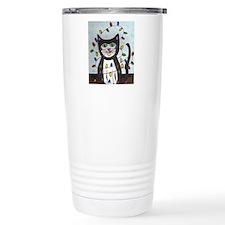 Cat in Christmas Lights Travel Mug