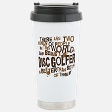 discgolfer_brown Stainless Steel Travel Mug