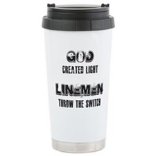 GOD CREATED LIGHT 1 Travel Mug