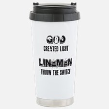 GOD CREATED LIGHT 1 Travel Mug