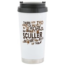 sculler_brown Thermos Mug
