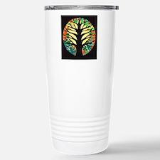 fire-tree-yellow bloom Travel Mug