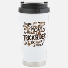 trickrider_brown Stainless Steel Travel Mug