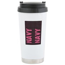 PolkaFopsPinkNavy Travel Mug