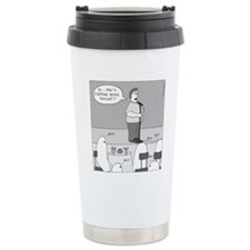 Ghost Comedian - no tex Travel Mug