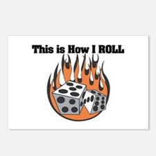 How I Roll (Dice) Postcards (Package of 8)