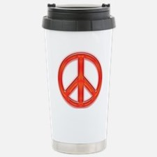 peaceGlowRed Travel Mug