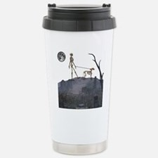 skeleton dog person Stainless Steel Travel Mug