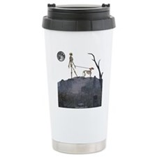 skeleton dog person Travel Coffee Mug