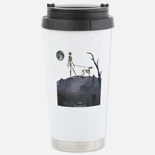 skeleton dog person Travel Mug