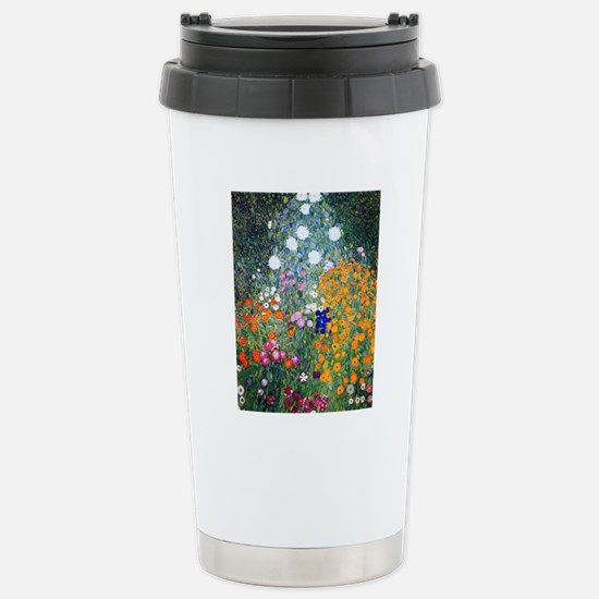 iPad Klimt Flowers Stainless Steel Travel Mug