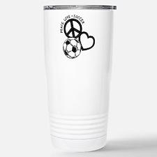 P,L,Soccer, black Stainless Steel Travel Mug