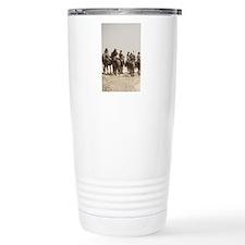 5x8_journal_horses_aged Travel Mug