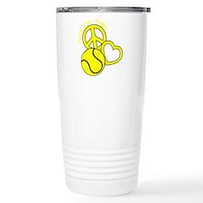 P,L,Tennis, yellow Travel Mug