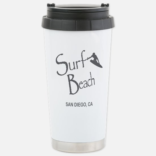 Surf Board Stainless Steel Travel Mug