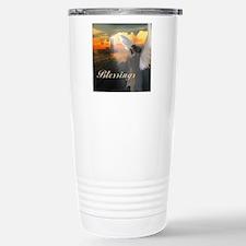 Lighthouse With Praying Travel Mug