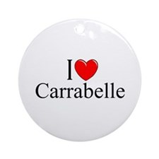 """I Love Carrabelle"" Ornament (Round)"