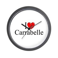 """I Love Carrabelle"" Wall Clock"
