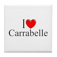 """""""I Love Carrabelle"""" Tile Coaster"""