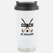 Personalized Field Hockey Coach Stainless Steel Tr